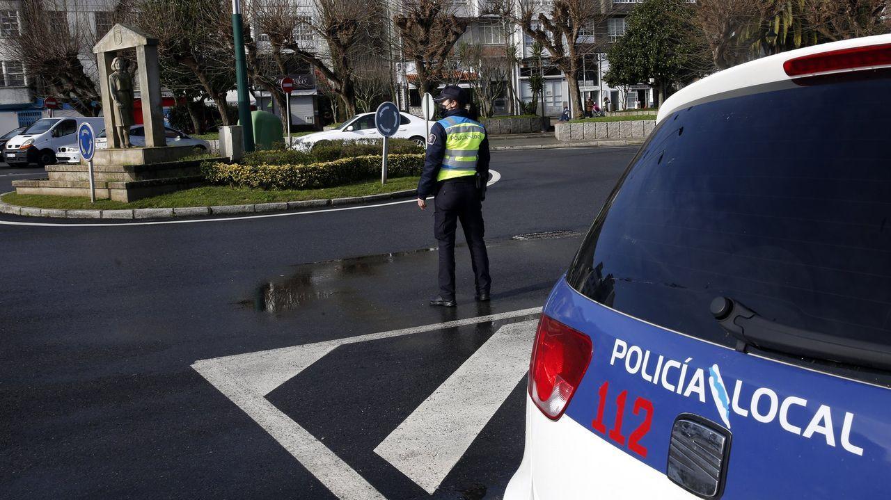 Imagen de archivo de un control de la Policía Local de Ribeira