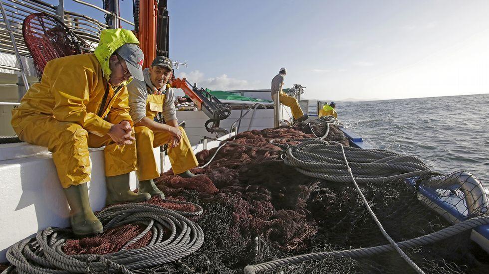 La tripulación del pesquero