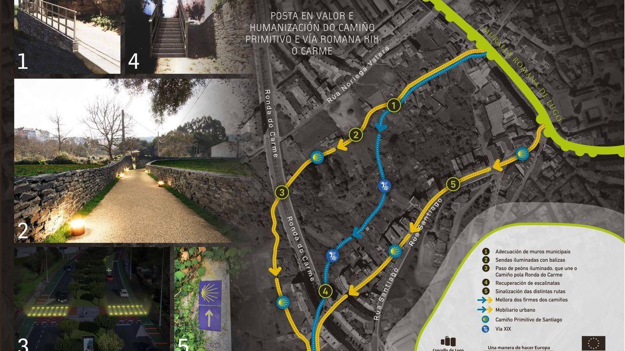 Mejoras que se harán en el Camino Primitivo a su paso por el barrio de O Carme de Lugo