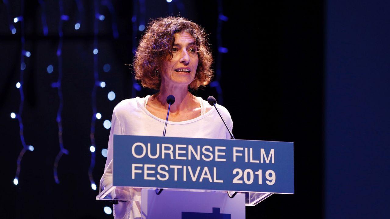 La cineasta Laura Gárdos, nieta de Carlos Velos, durante la gala