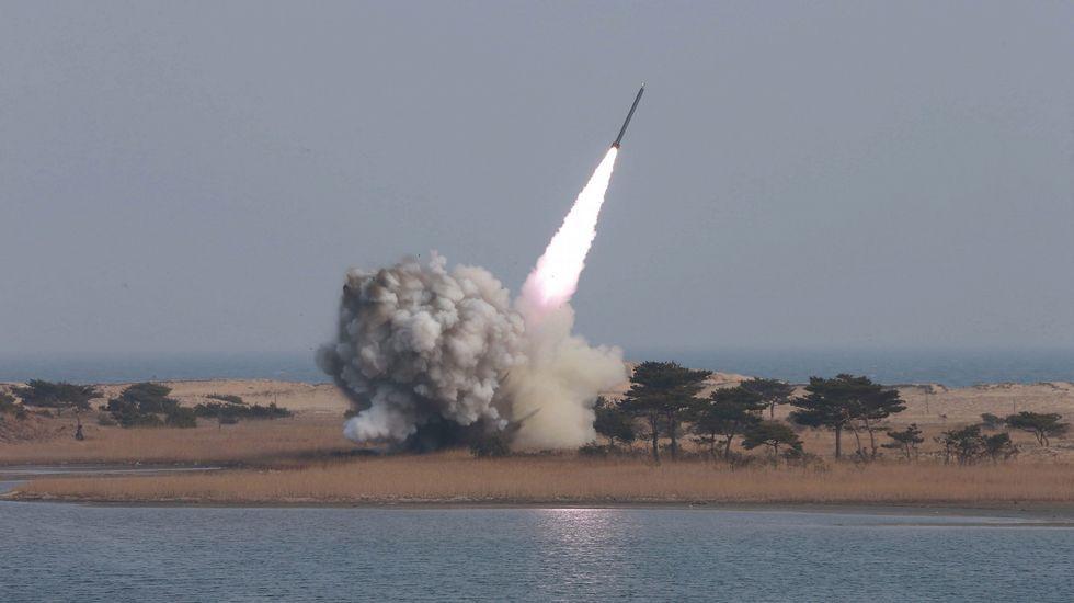 Corea del Norte provoca un terremoto de 5,3 grados.Corea del Sur lanza un proyectil hacia el mar de Japón