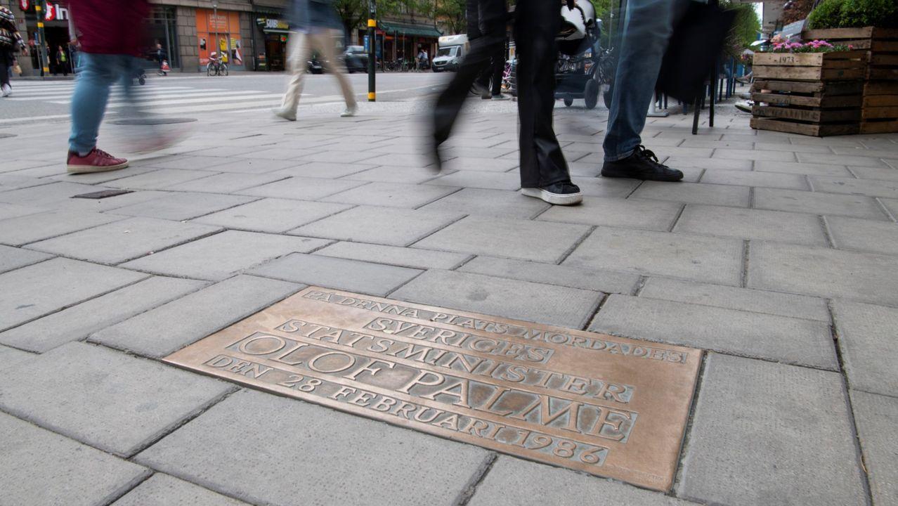 Lugar de Estocolmo donde fue asesinado en 1986 de dos tiros por la espalda el primer ministro Olof Palme