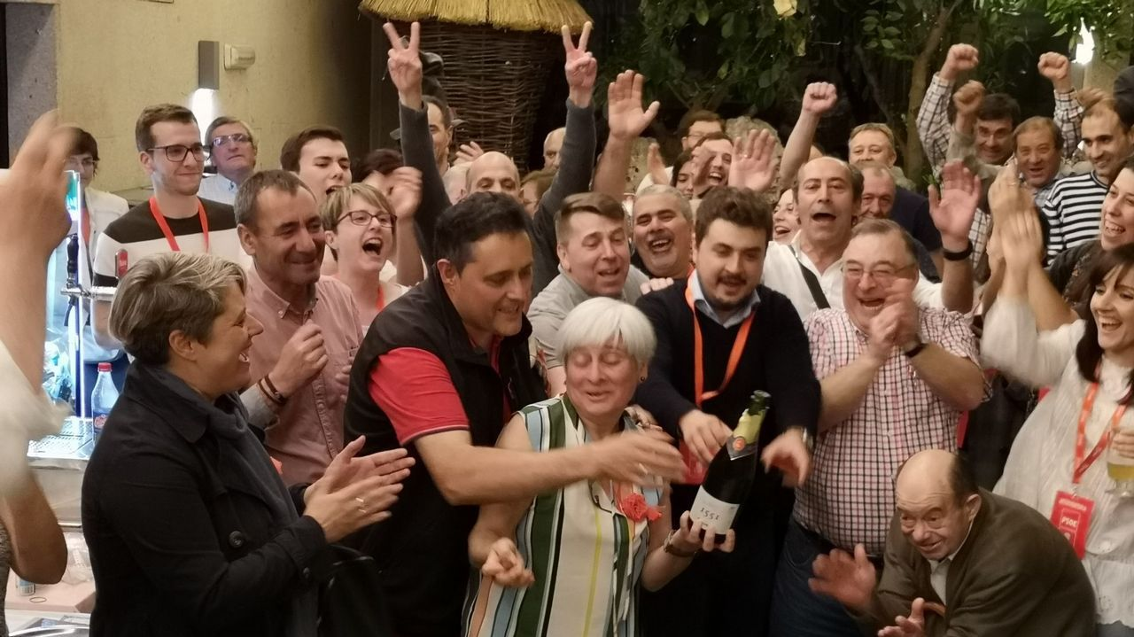 El PSOE celebra su triunfo en Vilalba