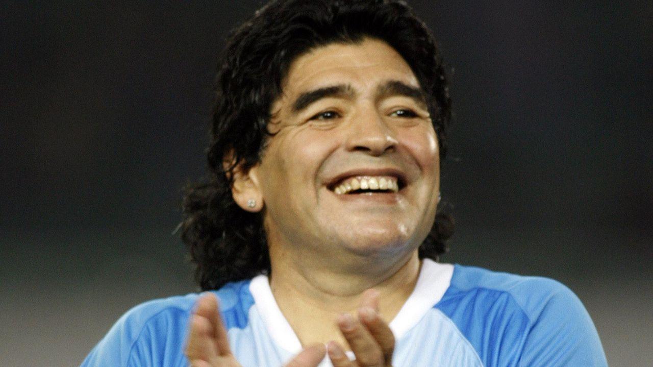 En un partido de veteranos con el combinado argentino en el 2008