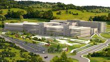 Infografía con la reforma integral del hospital de Cabueñes, en Gijón.Infografía con la reforma integral del hospital de Cabueñes, en Gijón