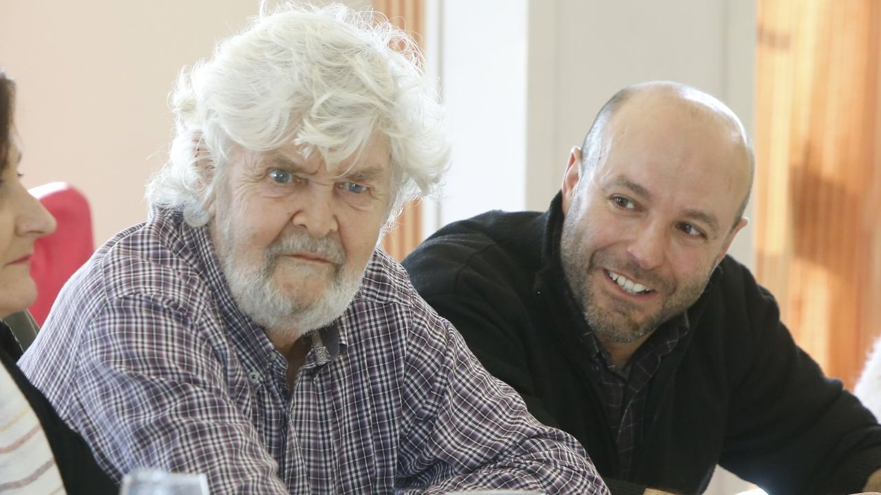 Beiras y Villares, durante una reunión del Consello das Mareas en abril