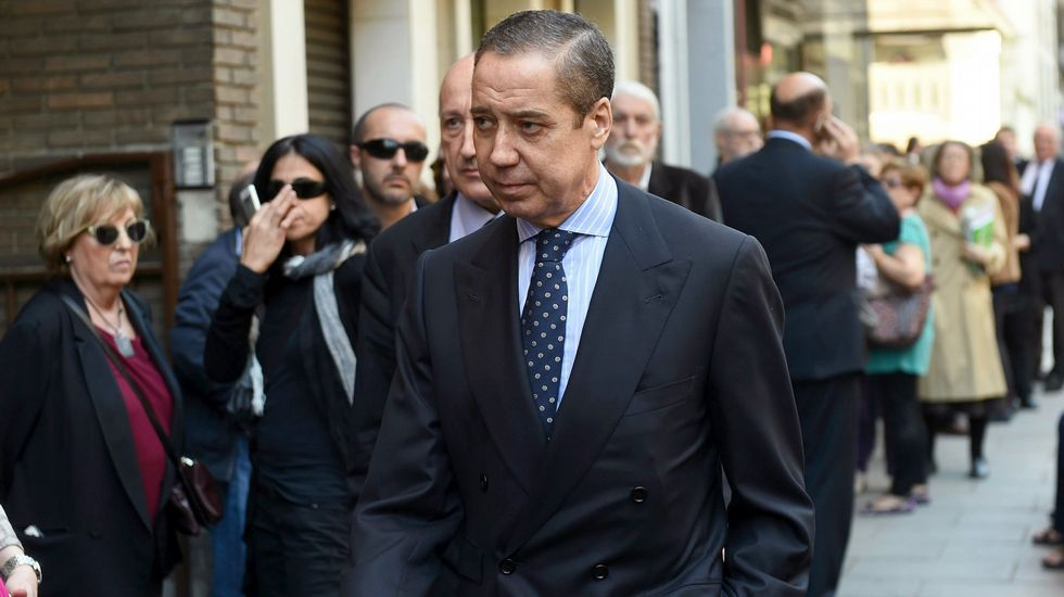 Aznarh.El consejero de OHL Javier López Madrid, a su salida de la Audiencia Nacional tras declarar ante el juez Eloy Velasco