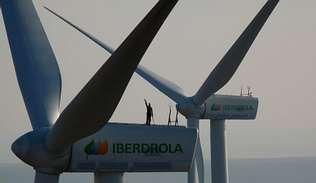 Imagen de uno de los parques eólicos de Iberdrola.