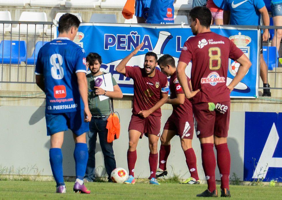Tubo, Adrián y Kevin, regresan con la expedición granate a La Mancha, donde jugaron ante el Puertollano.