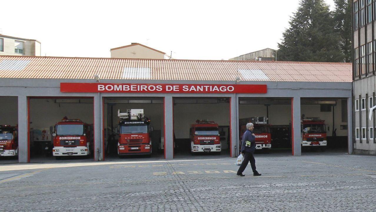 Chandebrito, tres años después de la devastadora ola de incendios.bomberos ribeira