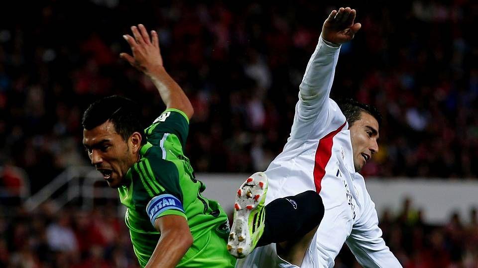 El Sevilla 1 - Celta 0, en fotos.Sergi Gómez será el sustituto del sancionado Cabral en la nutrida zaga del cuadro vigués.