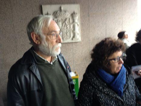 Dos portavoces de la plantilla de O Salnés en los juzgados de Vigo