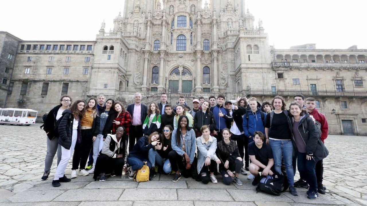 Alumnos galegos do Cañada Blanch, este verán en Santiago