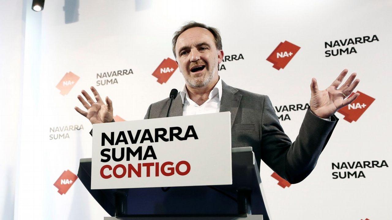 Carbón en la playa de San Lorenzo, Gijón.Javier Esparza (UPN) se presentó con PP y Ciudadanos en la coalición Navarra Suma