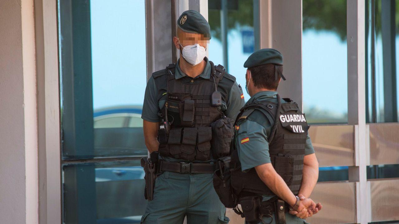 Agentes de la Guardia Civil en Palma de Mallorca