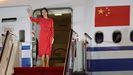 Meng Wanzhou, directora financiera e hija del fundador de Huawei, fue recibida el sábado en Shenzhen con pancartas de bienvenida y canciones patrióticas.