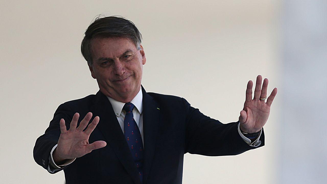Bolsonaro, en el palacio de Planalto, sede del Gobierno