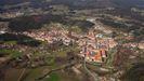 Vista aérea de Bertamiráns, uno de los municipios coruñeses que más habitantes ha ganado en los últimos años