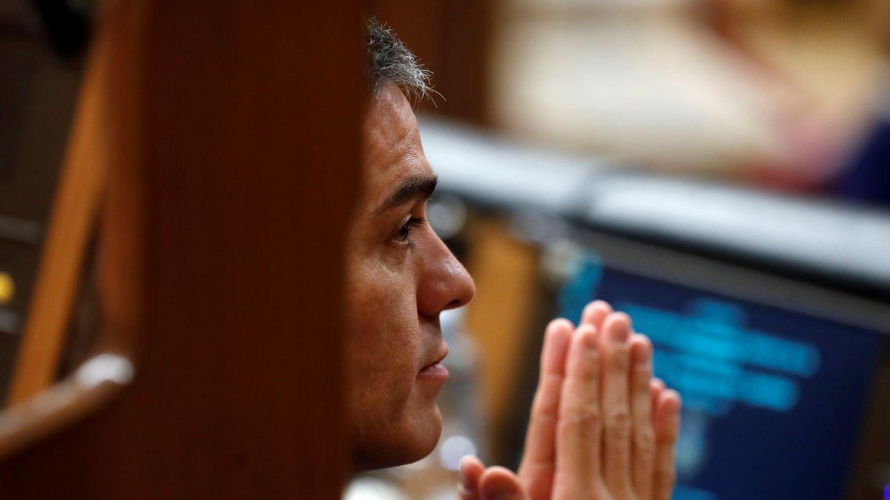 La última sesión de control se convierte en el primer debate electoral.El Gobierno de Pedro Sánchez, en una imagen del pasado octubre