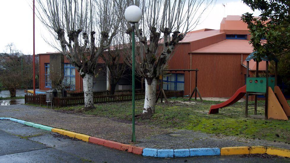 Exterior de la guarderia San Vicente de Paúl, en la calle Eduardo Pondal