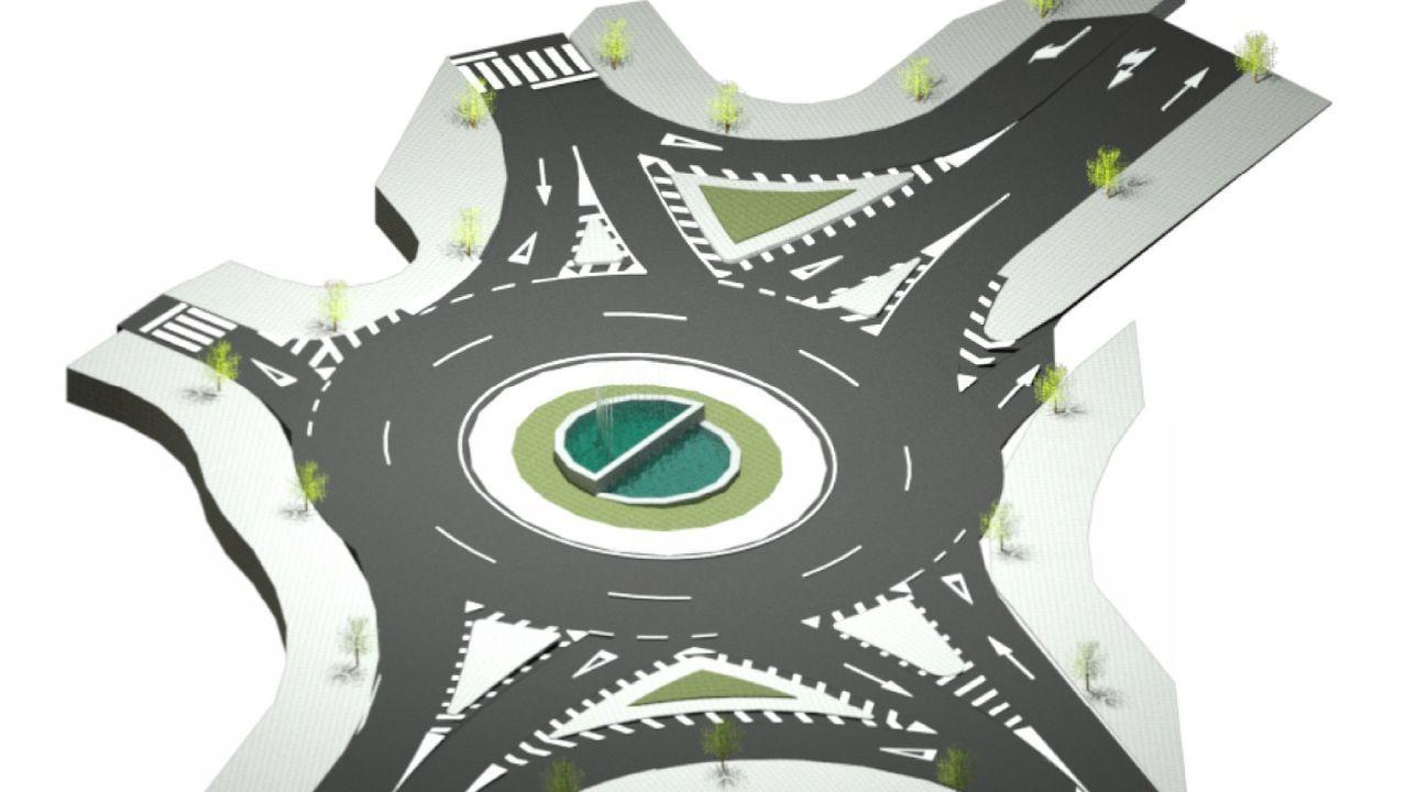 Recreación de la rotonda, que será zona 30