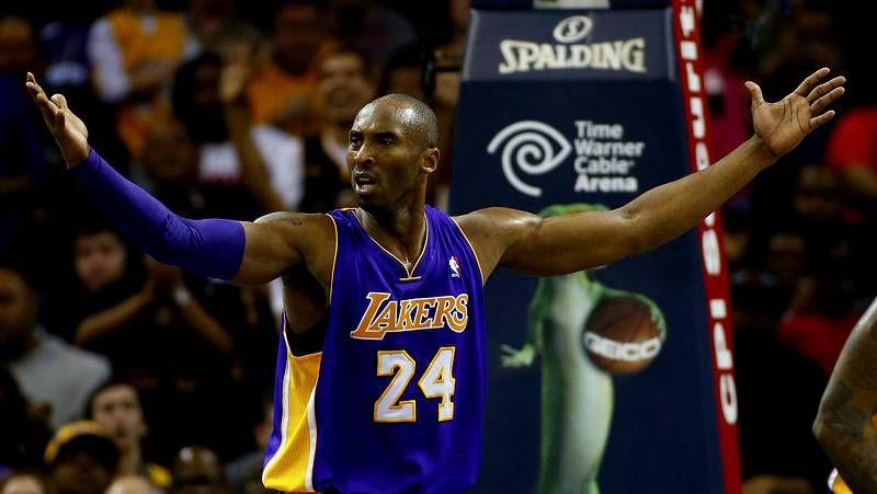 La lesión de Kobe Bryant, en imágenes