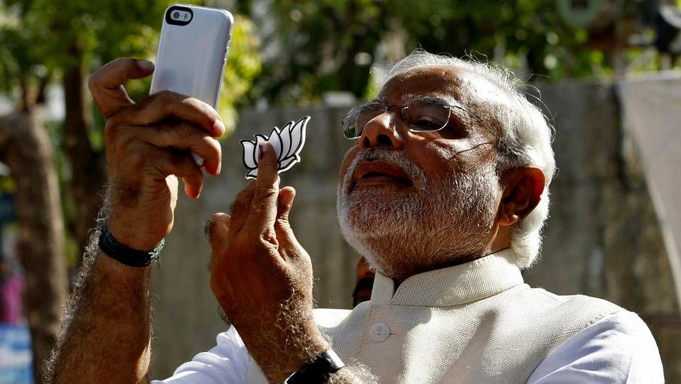 El candidato nacionalista a primer ministro de India, Narendra Modi.