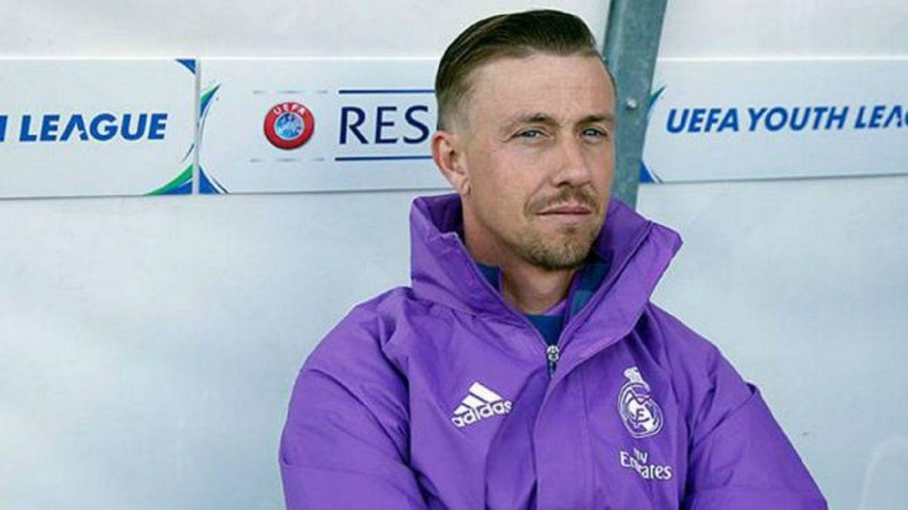 Guti en su etapa como entrenador del Real Madrid