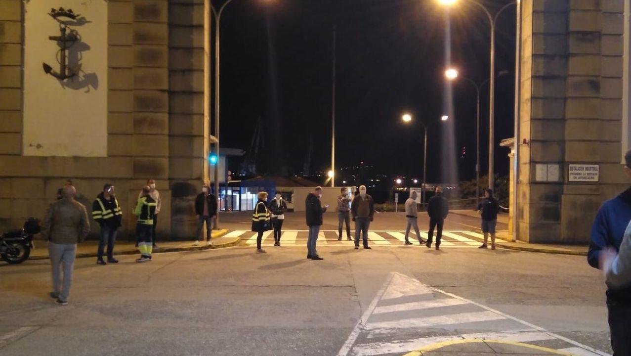 .El comité bloqueó los accesos al astillero desde las cinco de la mañana