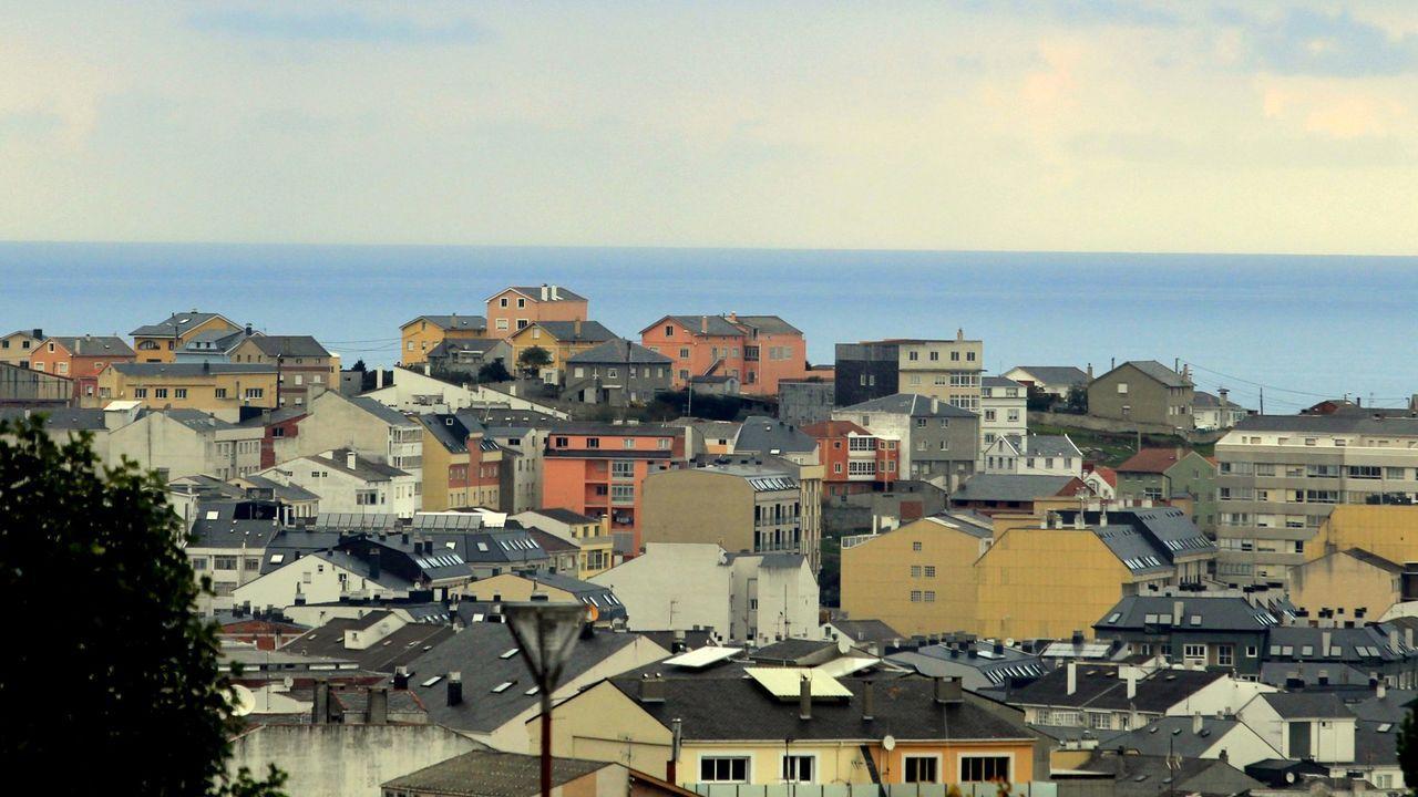 Vista de San Cibrao, en el municipio de Cervo