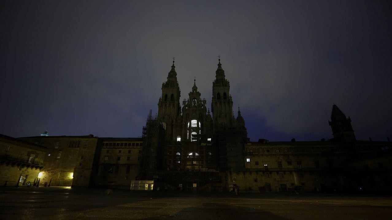 Catedral de Santiago a media luz