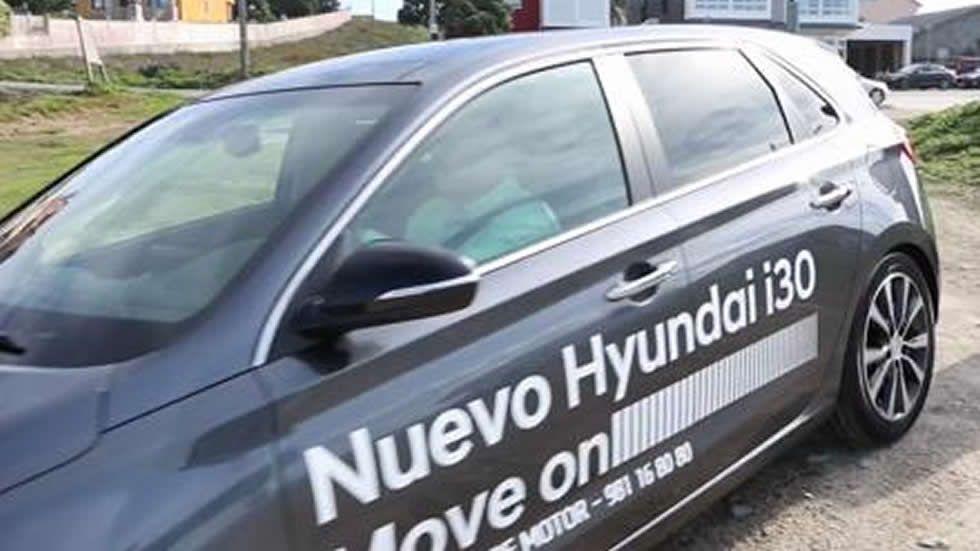 Presentación del nuevo Hyundai i30 en arenal de Baldaio