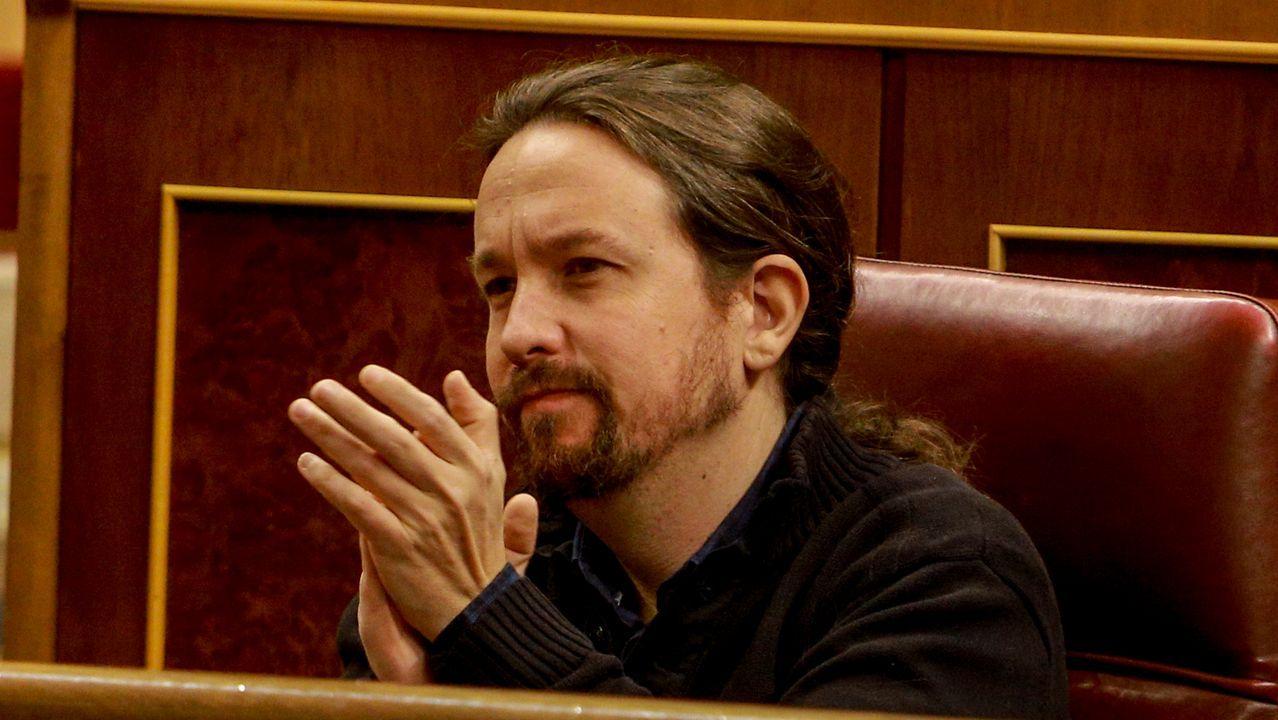 Pablo Iglesias se reafirma como alternativa al bipartidismo.Íñigo Errejón durante una reunión con las bases del partido Más Madrid