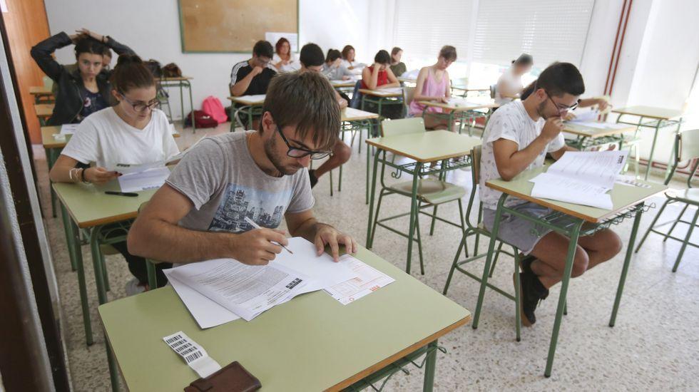 Pruebas de acceso a la universidad en el Agra de Raíces ceense, año 2018.