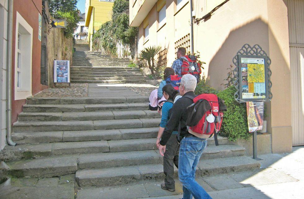 Sarria es uno de los grandes puntos de referencia en el trayecto del Camiño Francés.