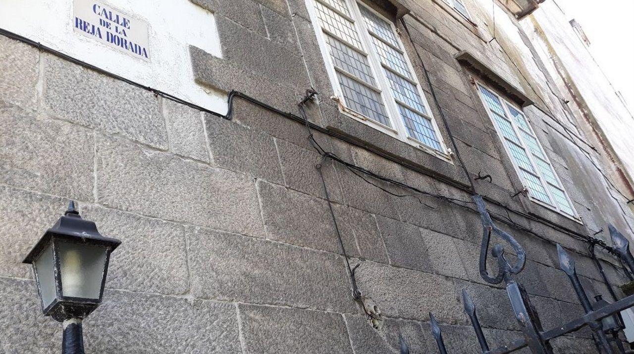 Calle de la Reja Dorada, en la Ciudad Vieja de A Coruña