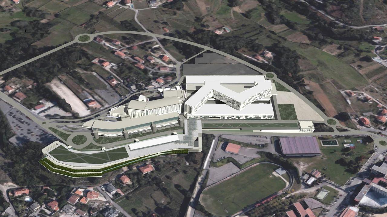 Así se está desarrollando el cribado de O Vao.Recreación del proyecto del Gran Montecelo en Pontevedra