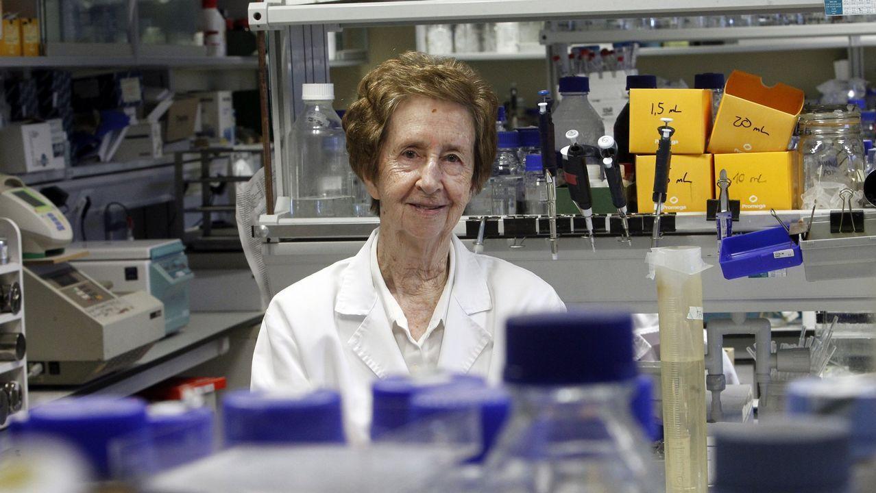 La investigadora MARGARITA SALAS en uno de los laboratorios del Centro de Biologia Molecular (CBM) Severo Ochoa de la UAM