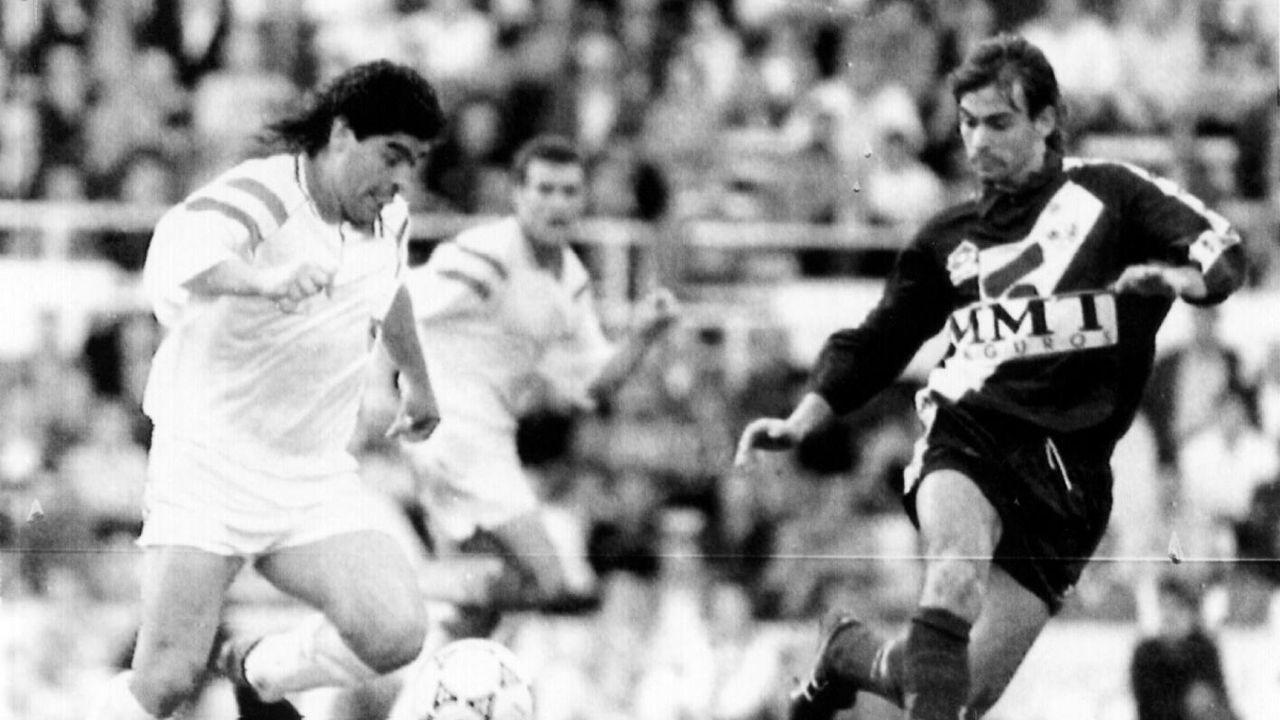 En un duelo entre Sevilla y Rayo Vallecano en 1992