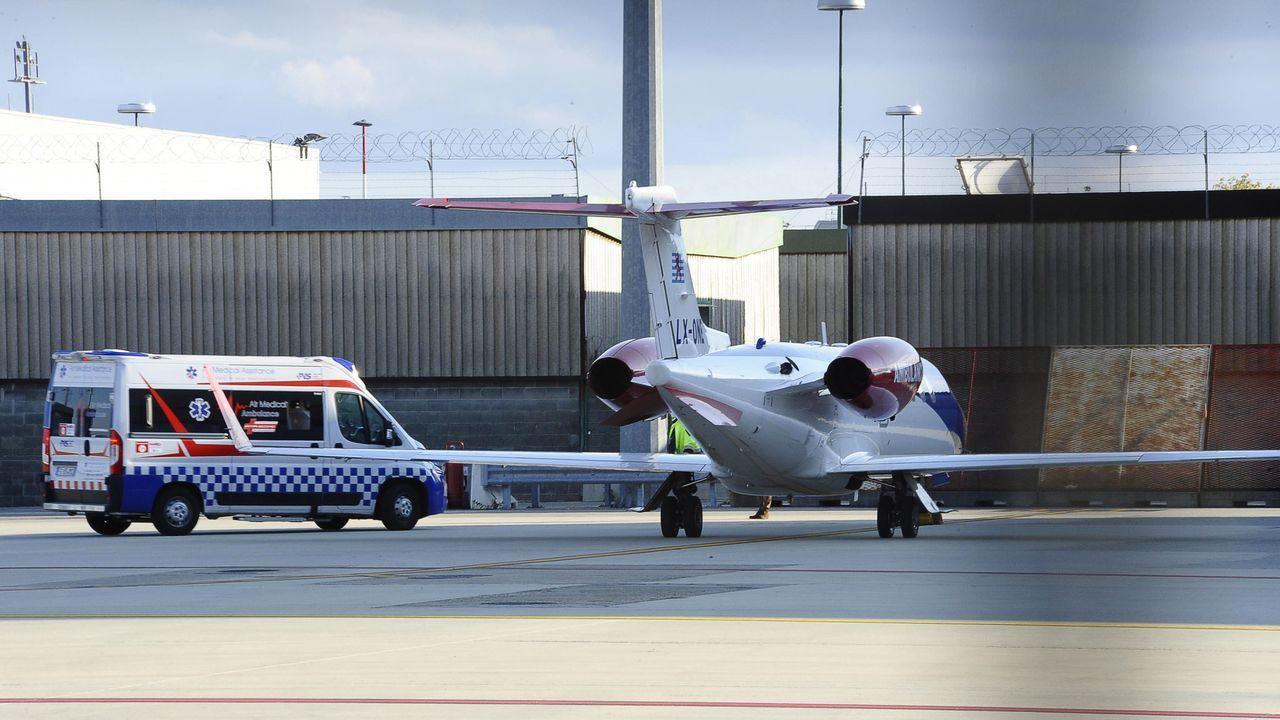 Imagen del avión sanitario que trasladó a Cristiano Ronaldo a Turín