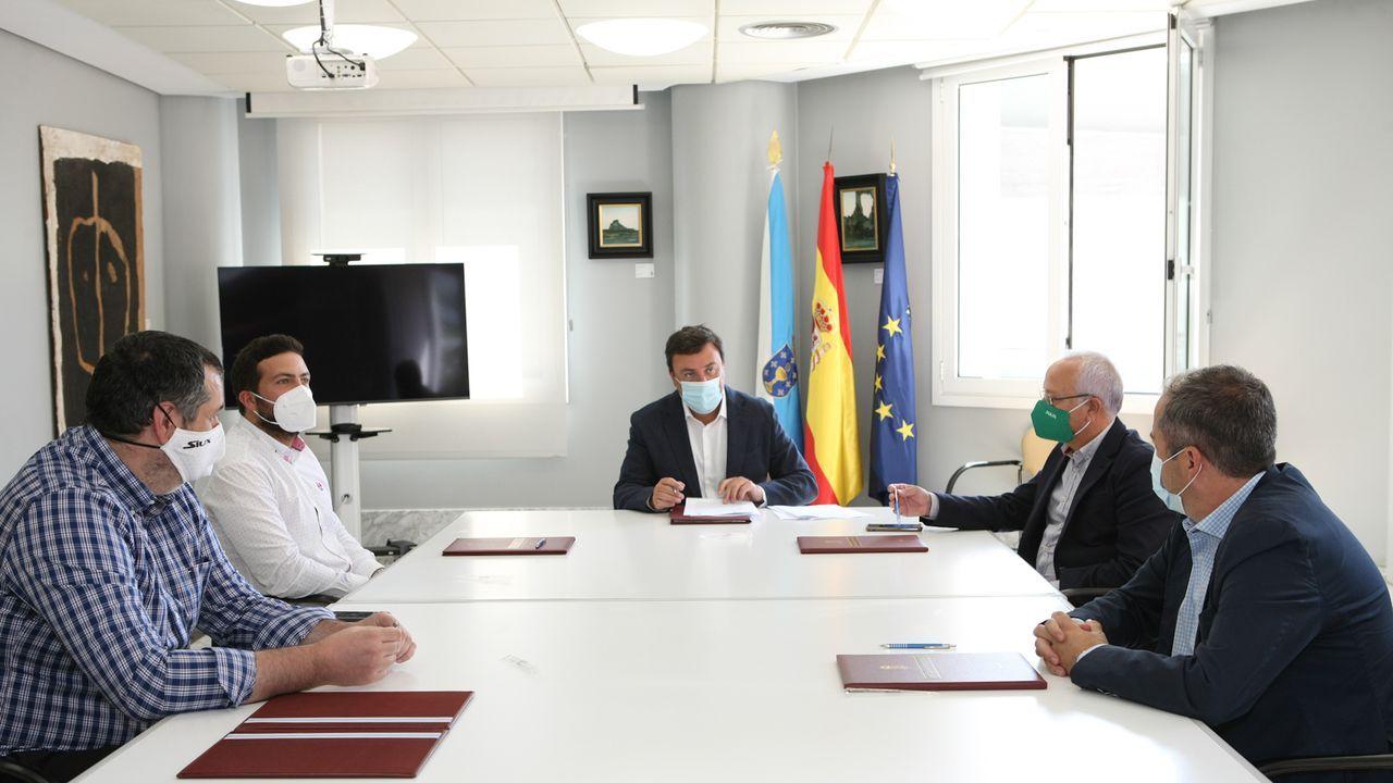 Julián Eduardo V. T. a su llegada a los juzgados de Ordes tras su detención en Colombia y extradición a España