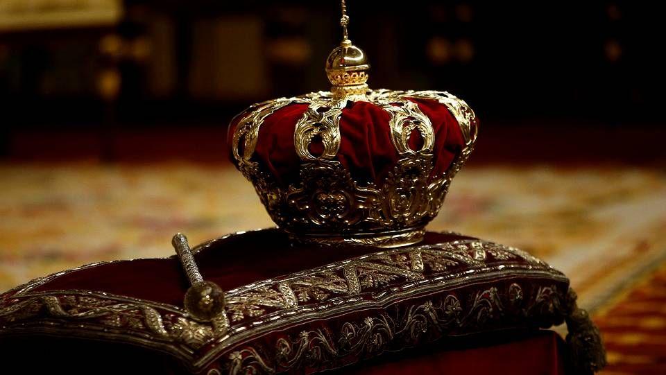 Salida de los reyes y las infantas del Palacio de la Zarzuela
