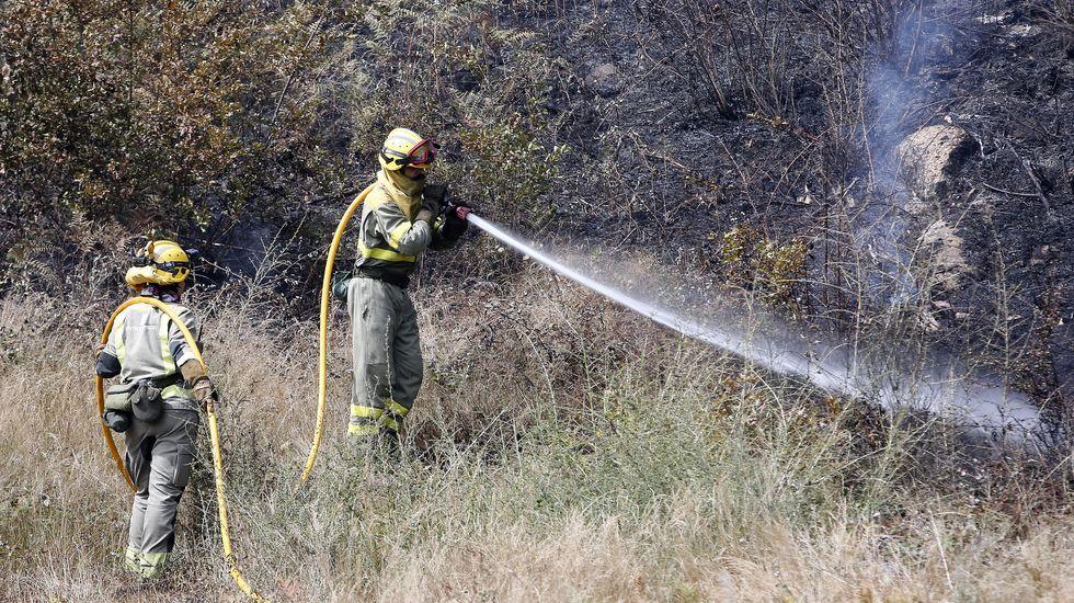 Incendio forestal en Aguasantas
