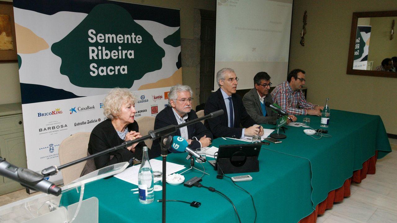 Un momento de la presentación de la edición de este año del concurso Semente Ribeira Sacra