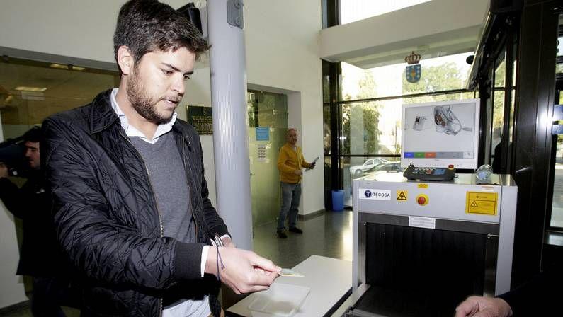 Adrián Varela, en el juzgado de Lugo