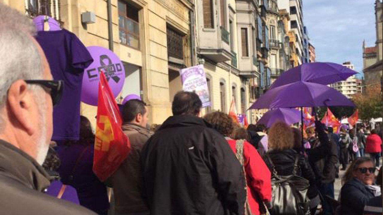 Manifestación contra la violencia machista del 25N en Asturias