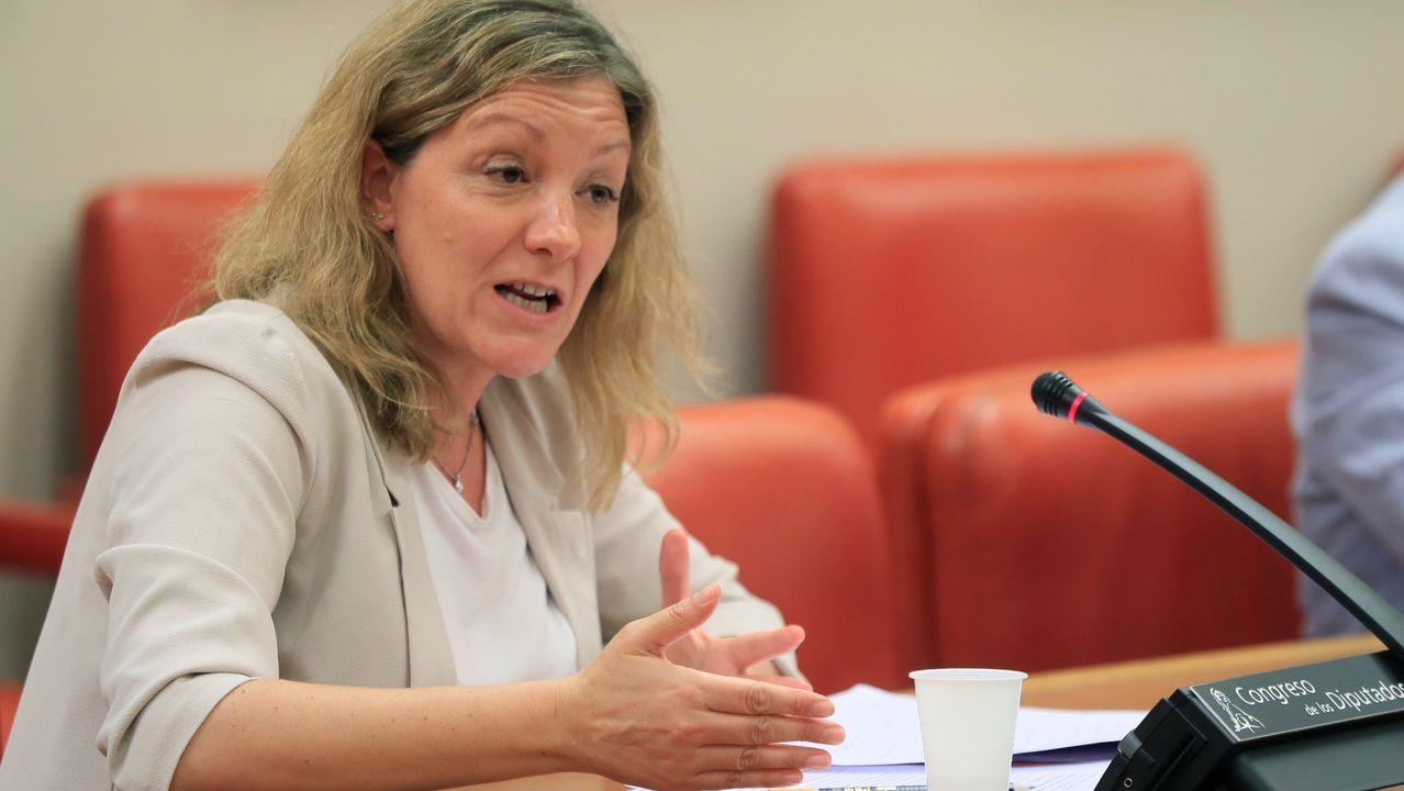 Natalia Peiro, secretaria general de Cáritas, este lunes, en el Congreso