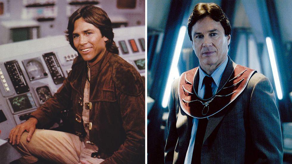 Richard Hatch, como Apollo en la serie «Battlestar Galactica» de los 70 y como Tom Zarek en el «remake» del 2004