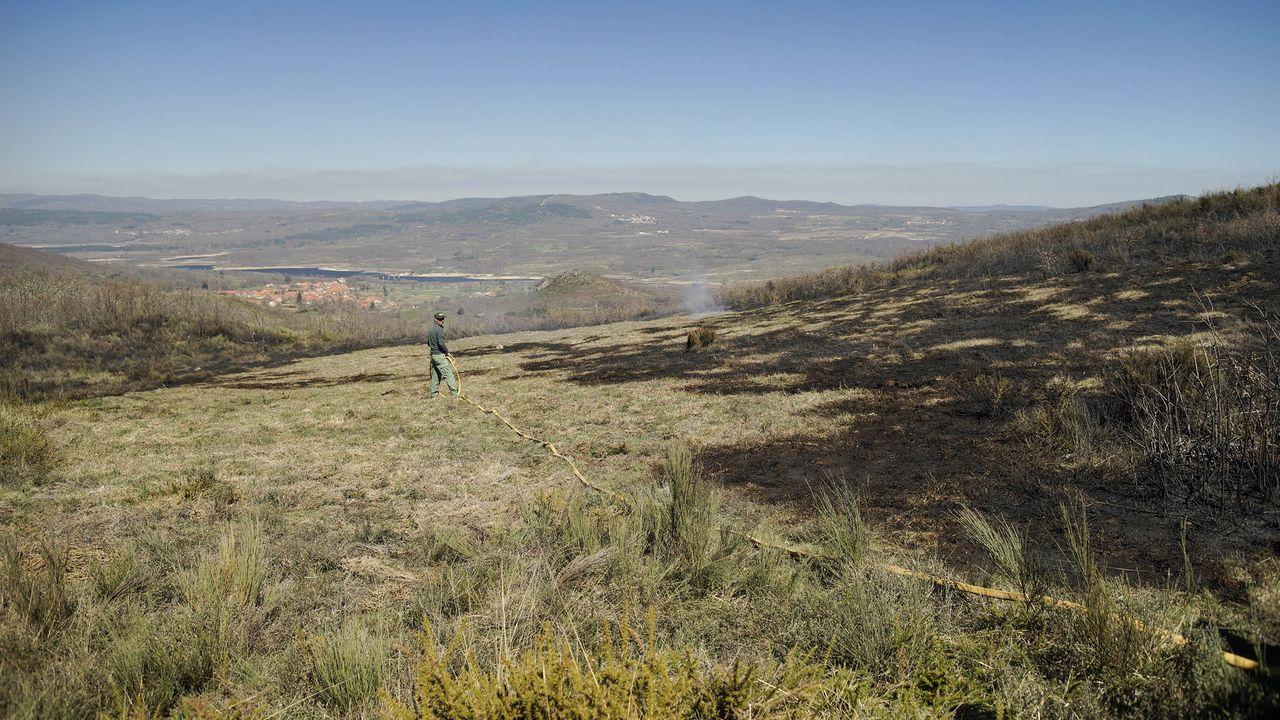 Imagen de archivo de un incendio forestal en Calvos de Randín