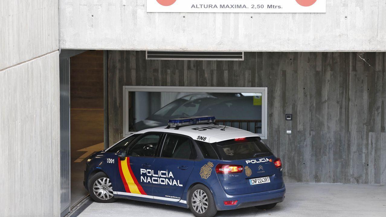 Vista general de la cárcel de Asturias.El número de detenciones bajó desde que se decretó el estado de alarma.